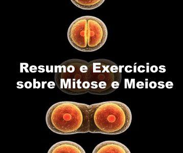 Exercícios sobre Mitose e Meiose