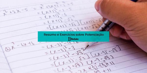 Exercícios sobre Potenciação