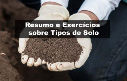 Exercícios sobre Tipos de Solo
