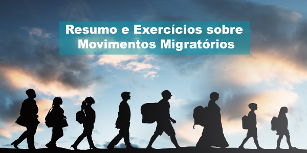 Exercícios sobre Movimentos Migratórios
