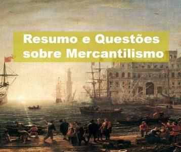 Exercícios sobre Mercantilismo
