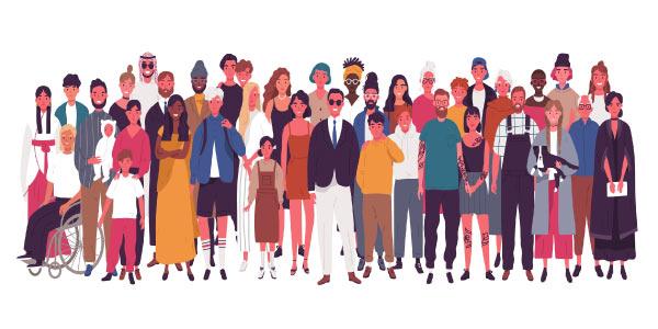 movimentos migratórios de pessoas com diferentes culturas