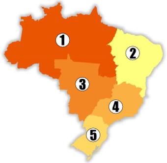 divisao-regional-Exercícios sobre Divisão Regional do Brasil