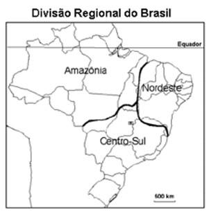 divisao-regional-do-brasil-Exercícios sobre Divisão Regional do Brasil