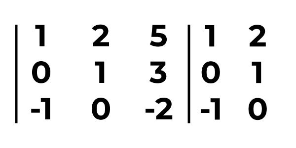 exemplo da aplicação regra de sarrus