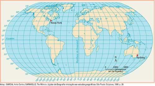 fuso-horário-mundial-Exercícios sobre Fuso Horário