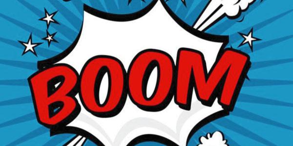 onomatopeia de explosão boom