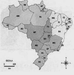 regiões - divisao-regional-Exercícios sobre Divisão Regional do Brasil