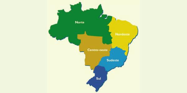 cinco regiões do brasil