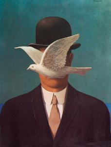 """""""Man in a Bowler Hat"""", de René Magritte"""