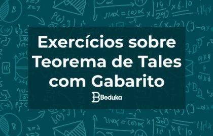 EXERCÍCIOS SOBRE TEOREMA DE TALES