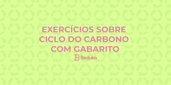 Exercícios sobre Ciclo do Carbono