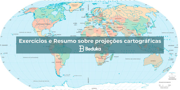 Exercícios sobre Projeções Cartográficas