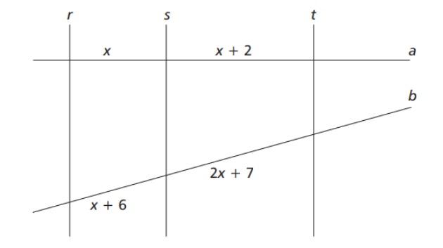 Exercícios-sobre-teorema-de-tales-da-CEFET-mg-2014