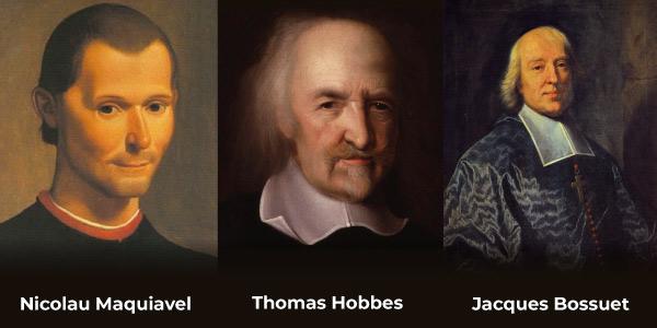 Pensadores absolutistas: Maquiavel, Hobbes e Bossuet