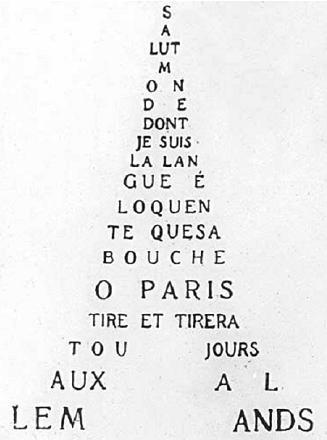 Texto de Guillaume Apollinaire