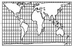 Projeção-de-peters-calvin - Exercícios sobre Projeções Cartográficas