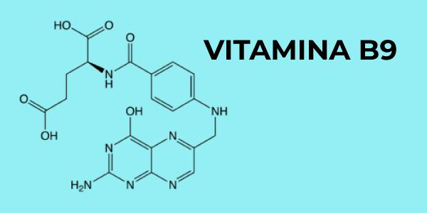 Fórmula química da vitamina B9