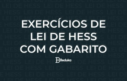 Exercícios de Lei de Hess