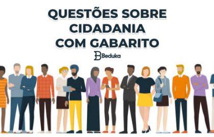 Questões sobre Cidadania
