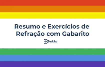 Resumo e Exercícios de Refração com Gabarito