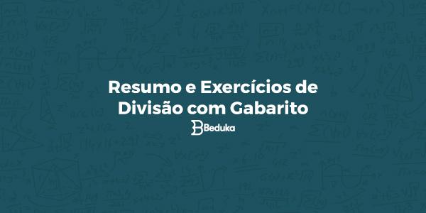 Exercícios de Divisão