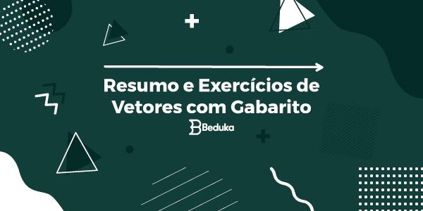 Exercícios de Vetores