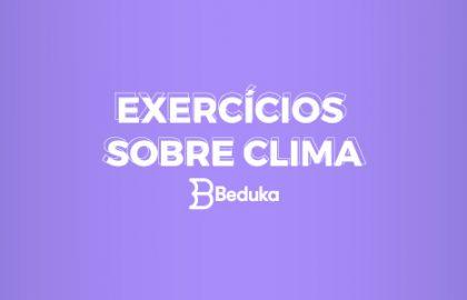 Exercícios sobre Clima com gabarito