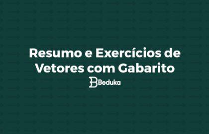 Resumo e Exercícios de Vetores com Gabarito