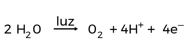 fórmula fotólise da água