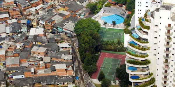 exemplo clássico da desigualdade brasileira