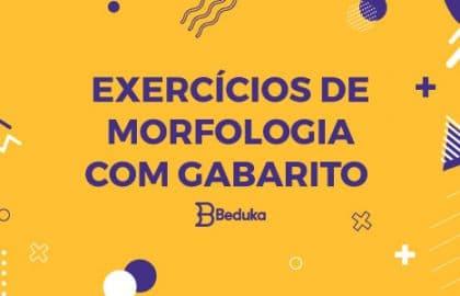 Exercícios de Morfologia com gabarito