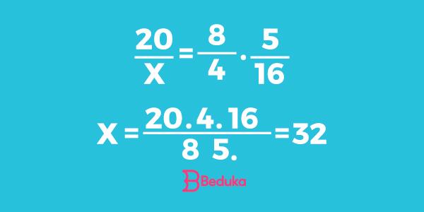 Exemplo de regra-de-três simples e composta