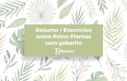 Exercícios sobre Reino Plantae