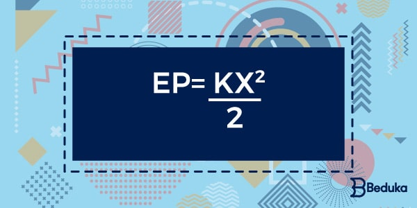 fórmula utilizada para calcular a energia potencial elástica