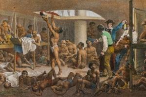 O negro africano chegou ao Brasil por meio do tráfico negreiro, que ocorreu no século XVI ao XIX.