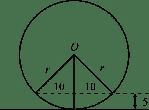 exercício-vestibular-teorema-de-pitagoras-na-circunferencia-fatec