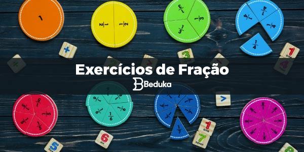 Exercicios De Fracao Com Gabarito Resumo Da Materia