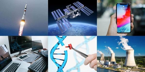 Invenções-e-avanços-da-Terceira-Revolução-Industrial-foguetes-engenharia-genética-smartphones-celular-satélite-coputador-e-usinas-nucleares