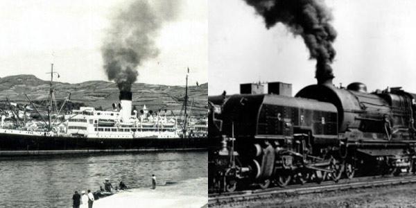 Locomotiva-e-barco-a-vapor-invenções-da-revoluçao-industrial