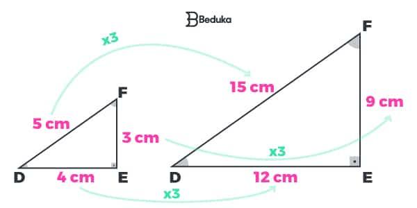 Exemplo de Semelhança de Triângulo LLL