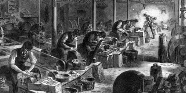 imagem-preta-e-branca-de-trabalhadores-pobres-trabalhando-nas-maquinas-das-fabricas-recem-criadas-da-revoluçao-industrial