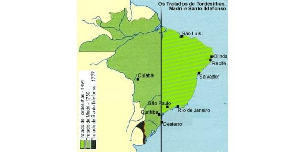 Limites determinados Pelo Tratado de Madrid (1750)