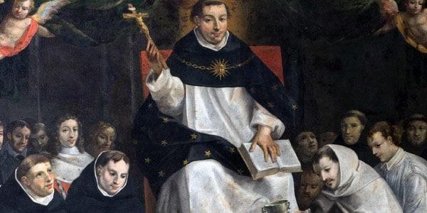 São Tomás de Aquino ministrando uma aula