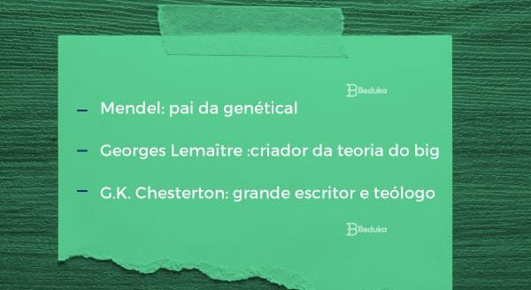 Mendel, Georges Lamaître e G.K. Chersterton