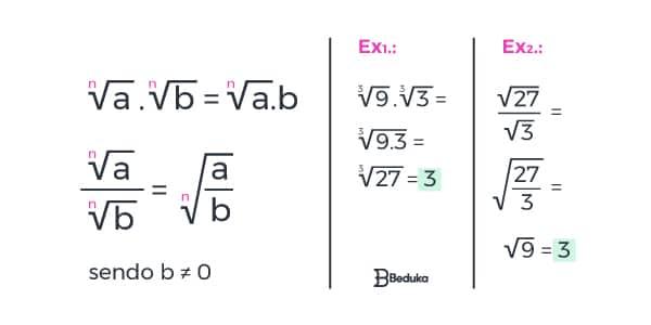 quarta-propriedade-da-radiciaçao-Na-multiplicação-ou-divisão-com-radicais-de-mesmo-índice-realiza-se-a-operação-com-os-radicandos-e-mantém-se-o-índice-do-radical