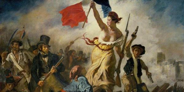 A Liberdade guiando o Povo de Eugène Delacroix