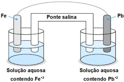 Ferro-metálico-reage-espontaneamente-com-íons-Pb2-em-solução-aquosa.-Esta-reação-é-representada-por