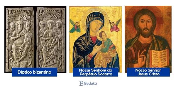 dipteros da arte bizantina e pinturas