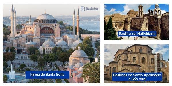 igreja de santa sofia basilica da natividade e igreja de sao vital e santo apolinario arquitetura bizantina